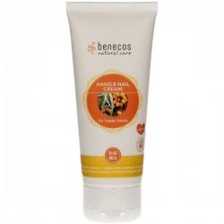 Benecos - Κρέμα Χεριών και Νυχιών με Βιολογικό Ιπποφαές & Βιολογικό Πορτοκάλι 75ml