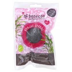 Benecos - Σφουγγάρι Καθαρισμού Προσώπου Konjac Μαύρο