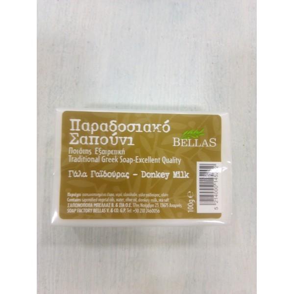 Bellas - Παραδοσιακό Σαπούνι με Γάλα Γαιδούρας 100gr