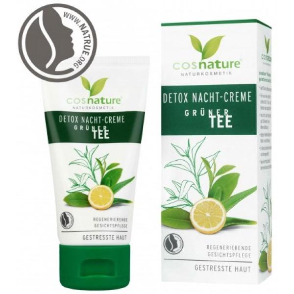 Cosnature - Κρέμα Νυκτός Detox με Πράσινο Τσάι / Detox Night Cream Green Tea 50ml Έντονης Επανορθωτικής Δράσης που Αποτοξινώνει σε Βάθος την Επιδερμίδα