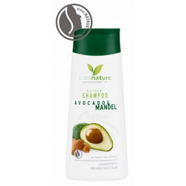 Cosnature - Σαμπουάν Αναδόμησης με Avocado & Αμύγδαλο / Repair Shampoo Avocado & Almond 200ml Ενισχύει τα άτονα και εύθραυστα μαλλιά