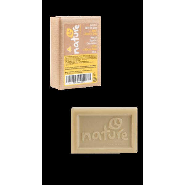 Φυσικό-Φυτικό σαπούνι ελαιόλαδου με μέλι 100gr