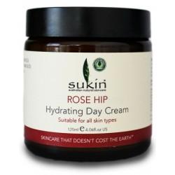 Sukin - Ενυδατική Κρέμα Ημέρας με Αγριοτριανταφυλλιά / Rose hip Hydrating Day Cream 120ml Πλούσιο σε Αντιοξειδωτικά με Μείγμα Άγριου Τριαντάφυλλου, Δαμάσκηνου & Ροδιού