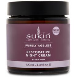 Sukin - Αντιγηραντική, Αναπλαστική Κρέμα Νυκτός / Purely Ageless Restorative Night Cream 120ml Αναζωογονεί και τονώνει την επιδερμίδα κατα την διάρκεια του ύπνου με ένα μείγμα από Pure Ribose, Macadamia Oil και βούτυρο κακάο