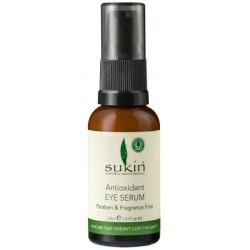 Sukin - Πλούσιο Αντιοξειδωτικό Serum Ματιών / Antioxidant Eye Serum 30ml Ένα Υπέροχο Ενυδατικό Μείγμα Φυτικών Πρωτεϊνών με Αλόη, Αγγούρι & Κολλιτσίδα