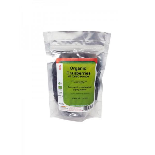 Cranberry με φυσικό χυμό μήλου βιολογική 100gr