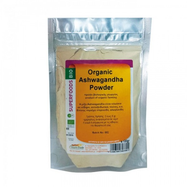 Ashwagandha (Indian ginseng) Organic Powder Βιολογική 100gr