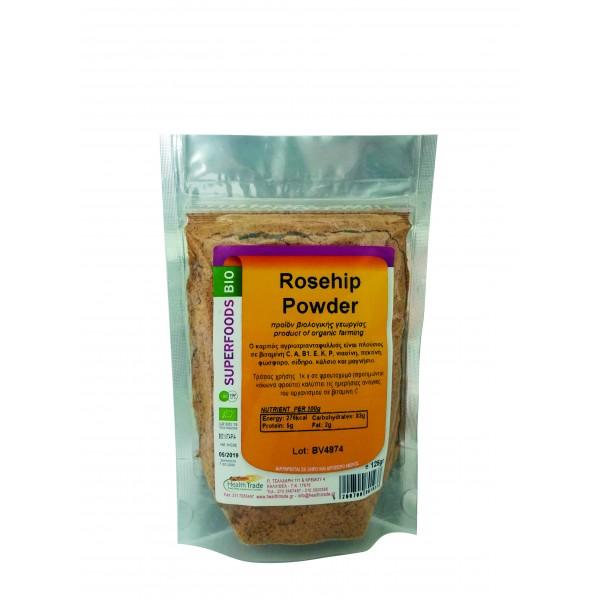 Rosehip Powder (Αγριοτριανταφυλλιά) βιολογική 125gr